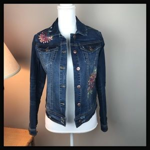 NWT Nanette Lepore Embroidered Denim Jacket XS & S